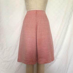 Barney's New York silk and wool A line skirt